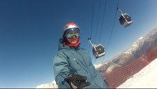 Сноубордист Соболев о Горной карусели и шлеме личным с номером телефона