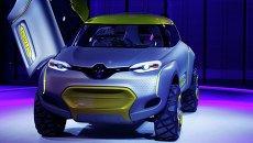 Концепт-кар Renault KWID на выставке Auto Expo 2014 в Нью-Дели, Индия
