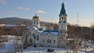 Собор Воскресения Христова в Южно-Сахалинске, архивное фото