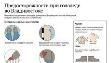 Предосторожности при гололеде во Владивостоке