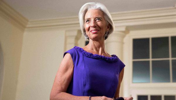 Директор-распорядитель МВФ США Кристин Лагард на оржественном приеме в Белом доме США. Архивное фото