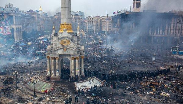 События на киевском Майдане в феврале 2014 года. Архивное фото