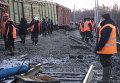 Сход вагонов грузового поезда на перегоне Жанна - Малоковали Могочинского района Забайкальского края