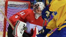 Вратарь Кэри Прайс (Канада) в финальном матче между сборными командами Швеции и Канады