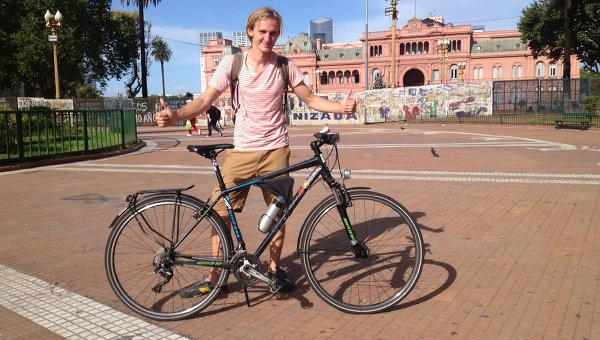 Буэнос-Айрес - финальная точка велоэкспедиции Мексика-Аргентина. Архивное фото