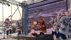 Паралимпийский огонь в Новосибирске зажегся в жаровне под бубен шамана