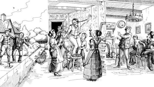 Иллюстрации из книги Джерома К.Джерома Трое в лодке, не считая собаки