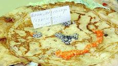 Блин на губернской Масленице в Томске, событийное фото
