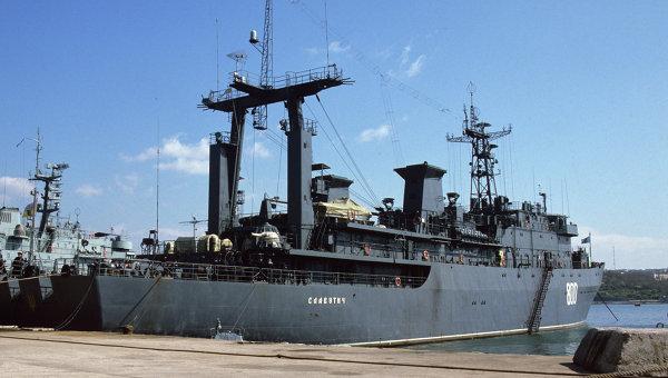 Корабль управления ВМС Украины Славутич. Архивное фото