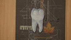 Плакаты в кабинете на стоматологическом факультете новосибирского медуниверситета