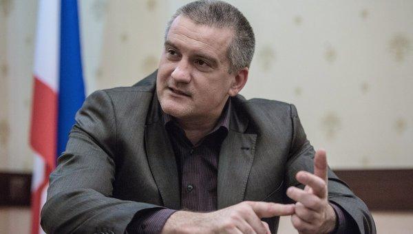 Председатель Совета министров Автономной Республики Крым Сергей Аксенов. Архивное фото