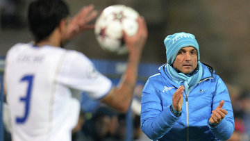 Главный тренер Зенита Лучано Спалетти в матче группового этапа Лиги Чемпионов УЕФА , архивное фото