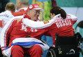 Игроки сборной России по керлингу на колясках на Паралимпиаде в Сочи