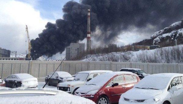 Пожар на судоремонтном заводе Нерпа в Мурманской области. Фото с места события