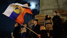 В Севастополе после голосования на референдуме о статусе Крыма