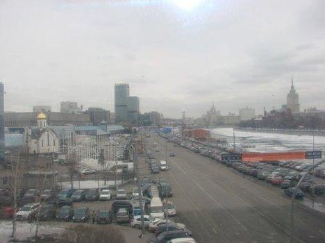 Вид на Москву с моста Багратион