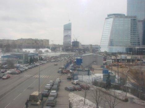Вид на Москва-Сити с моста Багратион
