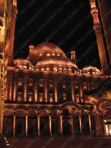 Ночной облик исламских памятников Каира