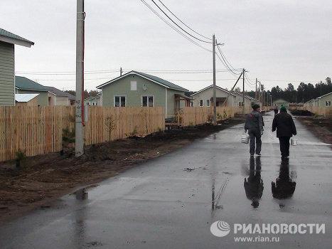 Дома для погорельцев в поселке Белоомут