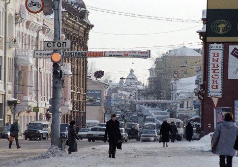 Одна из улиц города Томска