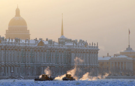 Мороз в Санкт-Петербурге