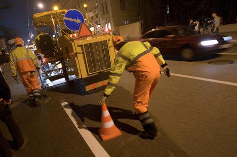 Обновление дорожной разметки в Москве