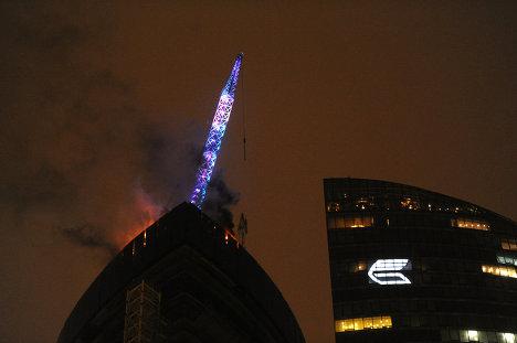Пожар в комплексе Москва-Сити