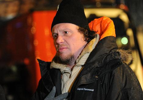 Предприниматель Сергей Полонский у башни Восток столичного комплекса Москва-Сити, где произошел пожар.