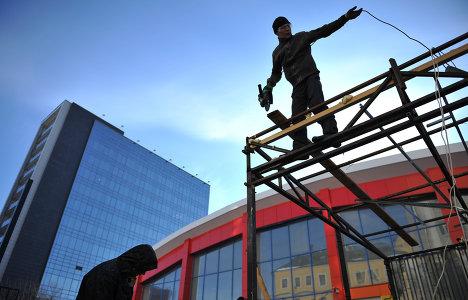 Демонтаж торговых палаток на Усачевском рынке в Москве