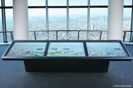 Вид на город со смотровой площадки телебашни Sky Tree