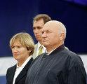Президент Федерации конного спорта России Батурина и мэр Москвы Лужков