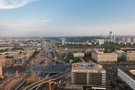 Развязка третьего транспортного кольца у станции метро Кутузовская