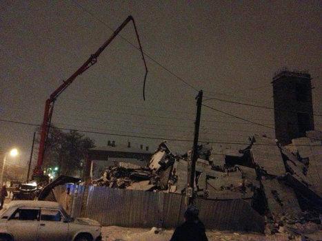 Строящееся здание обрушилось в Таганроге