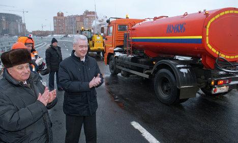 С.Собянин посетил строительство развязки на Ленинградском шоссе