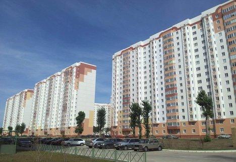 Многоэтажные жилые дома проекта, реализуемого на земельном участке Фонда РЖС в Курской области
