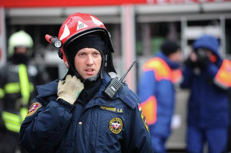 Показательные учения МЧС России на башне Федерация