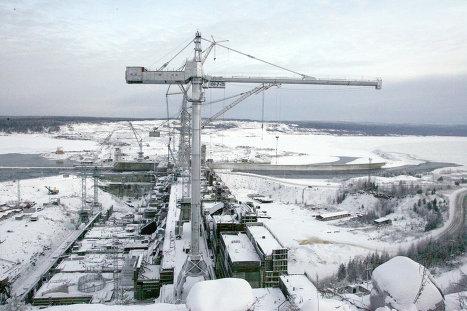 На строительстве Богучанской  ГЭС