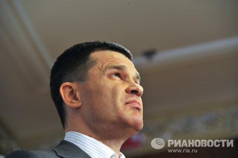 Пресс-конференция председателя совета директоров московского аэропорта Домодедово Дмитрия Каменщика