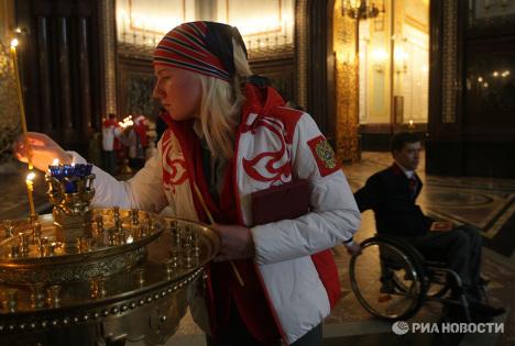 Проводы сборной команды России на Паралимпийские зимние игры