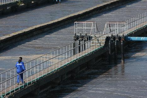 Фильтры для воды на Курьяновских очистных сооружениях