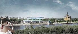 Макет стадиона в Нижнем Новгороде к ЧМ-2018