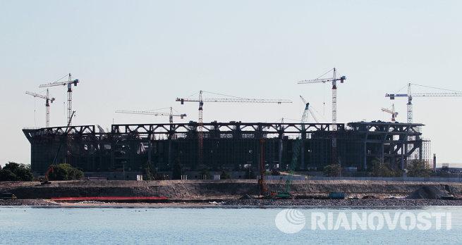 Строительство Зенит-Арены на Крестовском острове