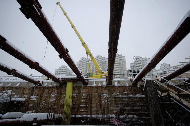 С.Собянин осмотрел строящуюся станцию метро Жулебино