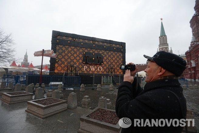 Сундук-павильон Louis Vuitton на Красной площади