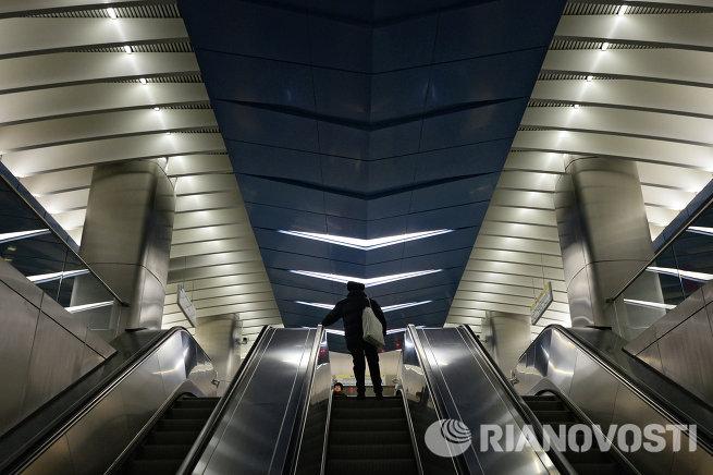 Станция метро Деловой центр открыта для пассажиров
