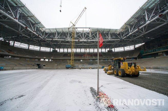 Строящийся стадион Спартак