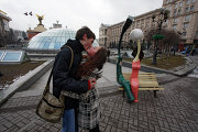 Памятник влюбленным собакам в Краснодаре