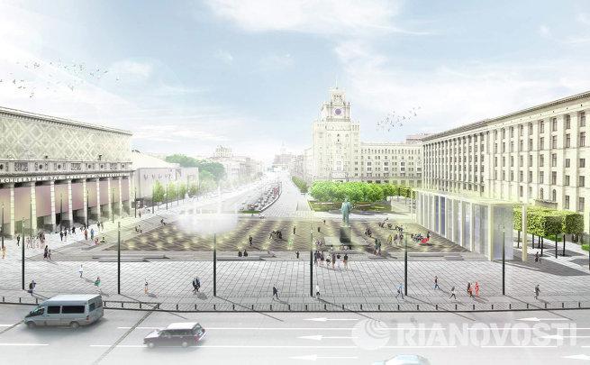 проект реконструкции Триумфальной площади компании ST Raum a