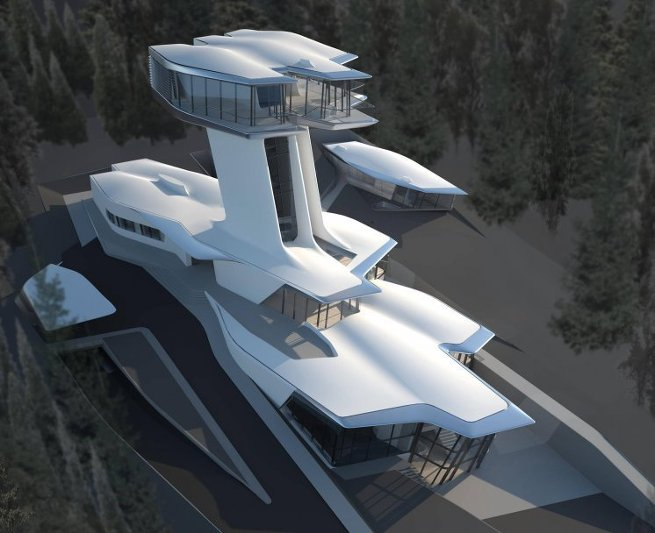 Проект подмосковной виллы Capital Hill Владислава Доронина