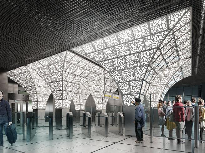 Станция метро Новопеределкино, United Riga Architects